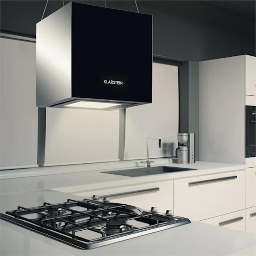 Recirkulace může být designová i velmi efektivní a poslouží i jako světlo nad vařičem. Zdroj: Electronic-star.cz