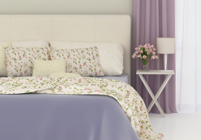 romantic bedroom with flowers